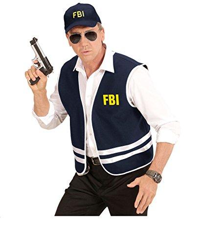 KOSTÜM - FBI AGENT - Größe 50/52 (M/L), US Amerika Ermittler Sondereinheit Spezialeinheit Agenten Uniformen (Fbi Kostüm Weste Agent)