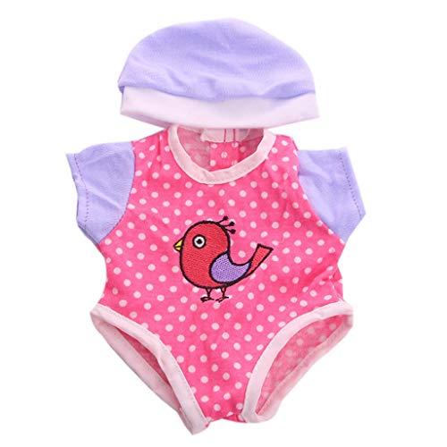 tianranrt ropa traje Cap para 14pulgada (americano muñeca accesorio niña juguete, rosa...