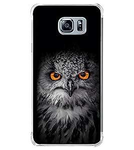 Owl with Orange Eye 2D Hard Polycarbonate Designer Back Case Cover for Samsung Galaxy Note5 :: Samsung Galaxy Note5 N920G :: Samsung Galaxy Note5 N920T N920A N920I