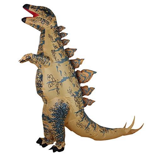 Aufblasbares Dino T-Rex Dinosaurier Spielzeug,Erwachsenes Party Halloween Cosplay Lustige Kostüm mit Ventilator,Mit Inflation System, beständig