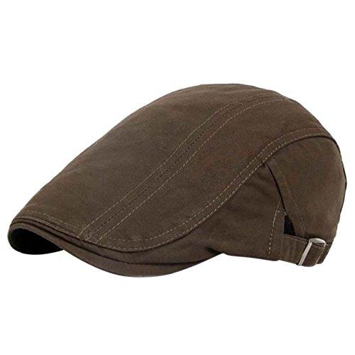 Moresave Herren Baumwolle Beret Hat Ivy Gatsby Newsboy Schirmmütze Golf Flache Kappe Cabbie Sommerhut Flatcaps