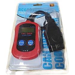 guoxuEE Autel MaxiScan MS300 Puede Herramienta de escaneo de diagnóstico para vehículos OBDII Rojos