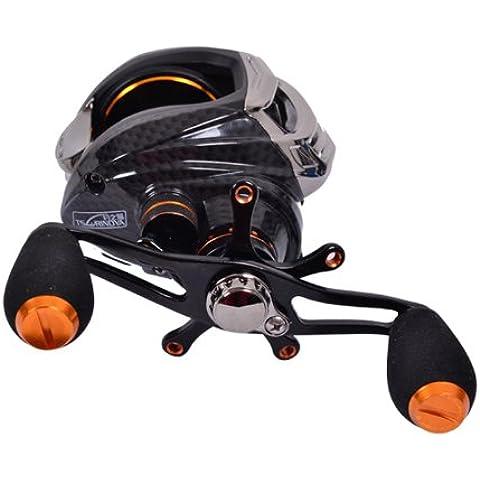 ryask (TM) UK Trulinoya TS120014BB 6.3: 1diritto mano esca Casting pesca Mulinello 13ball cuscinetti One-Way Frizione Baitcasting pesca nero