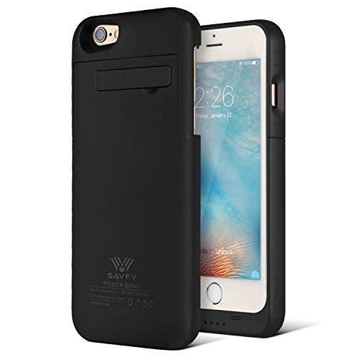 Cover Batteria iPhone 6s, SAVFY 3200mAh Custodia Cover Protettiva con Batteria Esterna integrata per iPhone 6/6s 4.7'' Power Bank Backup Battery Charger Case Nero 2017