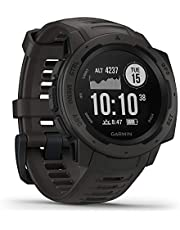 Garmin 010-02064-00 Instinct, Rugged Outdoor Watch with GPS, GLONASS and Galileo, Heart Rate Monitoring and 3-axis Compass (Graphite Black)