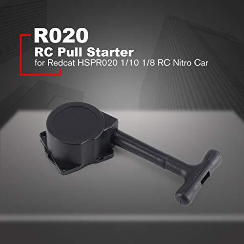MachinYeseed R020 Zugstartergriff Rückstoß-Startsatz Motorwerkzeuge Zubehör für Redcat HSPR020 1/10 1/8 Nitro BenzinRC Cars Modell Schwarz