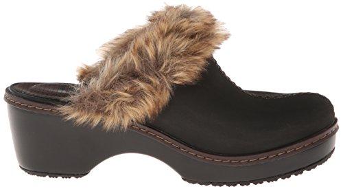 Crocs Cobbler Fuzz Clog Acajou / Noir