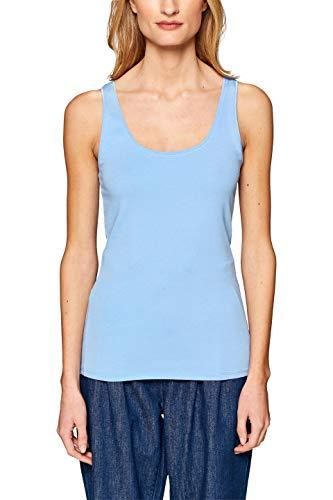 edc by ESPRIT Damen 128CC1K004 Top, Blau (Light Blue 4 443), X-Large (Herstellergröße: XL) - Light Blue Damen-shirt