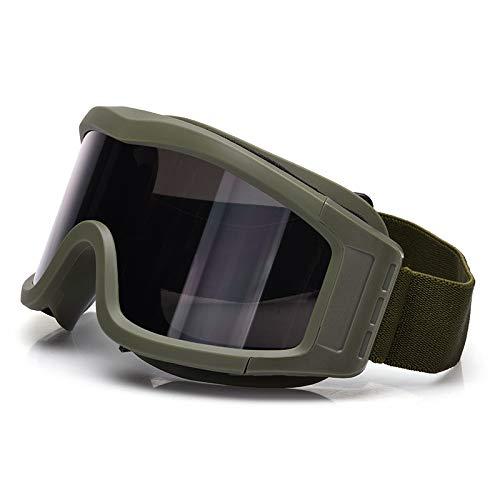 New Desert Winddicht, Anti-Beschlag und Sand-Beweis cs Taktische Paintball Schießen Brille Locust Schutzbrillen Brille (Color : Green)