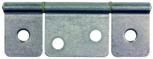 JR Products 70635 Satin Nickel Non-Mortise Flush Mount Hinge by JR Products (Flush Mount Hinge)