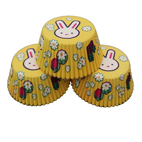 TianranRT 100 stücke bunte papier kuchen cupcake liner case wrapper muffin backen cup party (Gelb)