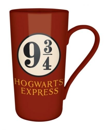 Harry Potter alto piattaforma Caffè Latte tazza di ceramica 9 3/4 Hogwarts Boxed