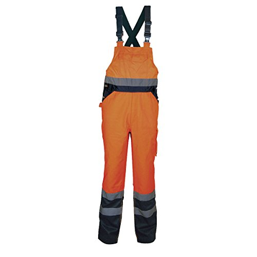 Cofra Warnschutz Latzhose Tuttle V294 Arbeitshose, L, orange, 40-00V29402-L