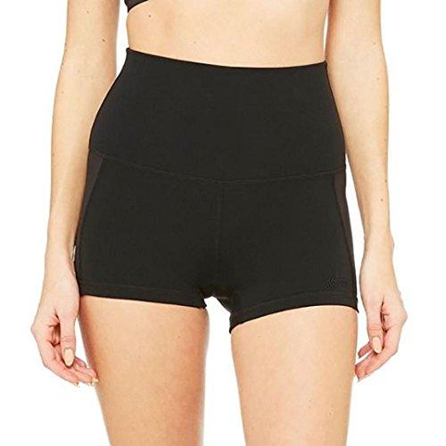 Yoga hose damen Kolylong® Frauen enge elastische Yoga Sport kurze Hosen Sommer Sporthose workout Fitness Shorts Strandhose Leggings (schwarz, M)