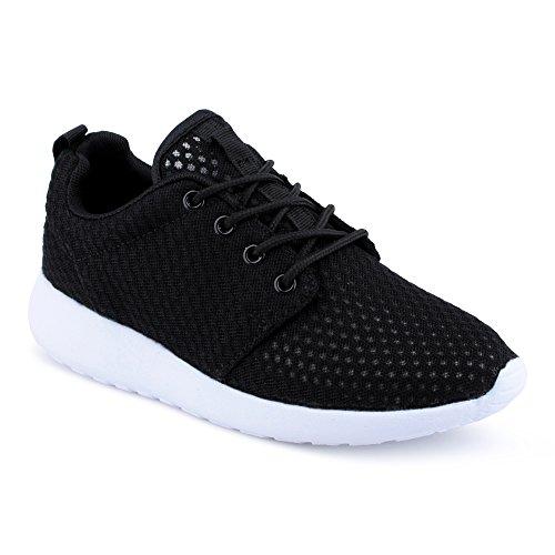 Herren Damen Sneaker Sportschuhe Lauf Freizeit Runners Fitness Low Unisex Schuhe Schwarz/Weiss/Damen