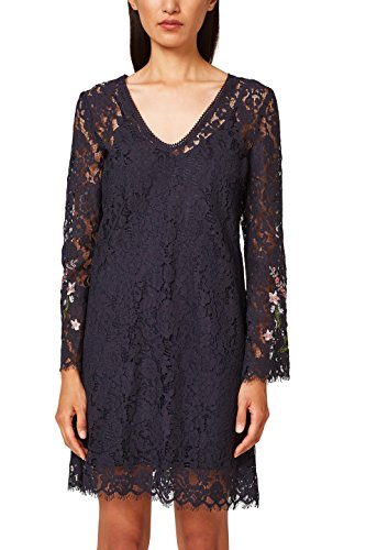 ESPRIT Collection Damen Partykleid 038EO1E028, Blau (Navy 400), 42