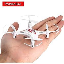 FPVRC K8 Drone para Niños 2.4GHz 4CH Cuadricópteros RC con Modo sin Cabeza, Rotación de 360° y Luz LED (Blanco)