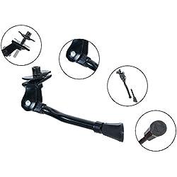 Soporte lateral para Prometeo 16pulgadas Hawk–Bicicleta infantil, aluminio ajustable en acero negro EZ-Stand | Soporte | Estable con plástico antideslizante Soporte | Edition 2018