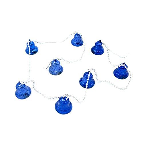 Itemer decorazioni per albero di natale appeso campane ciondolo campanelle vacanze per festa di natale ornamenti blue