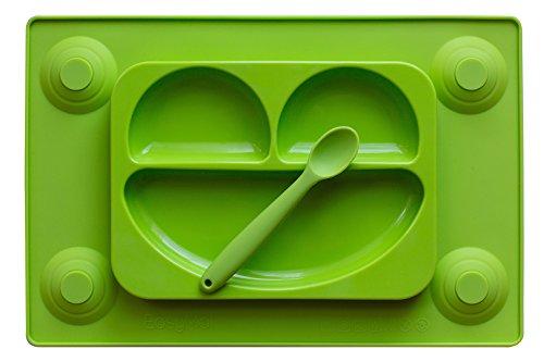EasyMat tovagliette &-Piatto diviso In One con & Spoon. per bambini No Mess-Happy Face-Prodotto per (3 Happy Meal)