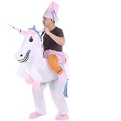 Anself - Disfraces Inflable De Unicornio Traje De Cosplay Fiesta 8e9aa69a4502