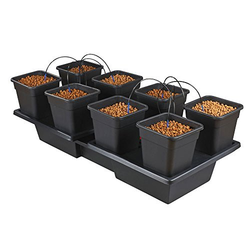 Pot Dripper-system (Wilma X Large Wide 8 x 25 Litre Pot Hydroponic Dripper System + Black Orchid Pro Timer by Wilma)