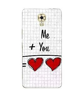 FUSON Me Plus You Heart 3D Hard Polycarbonate Designer Back Case Cover for Gionee M6 Plus