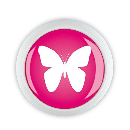 Möbelknopf Keramik 06597W Schmetterling rosa pink Shabby Chic Möbelknöpfe Griffe Knäufe für Schrank Schublade Kommode Küche Büro...