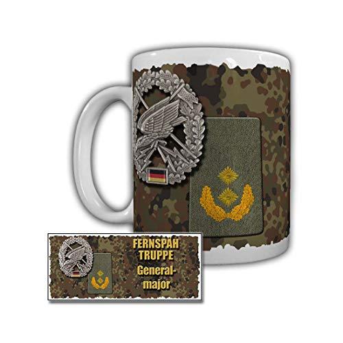 Tasse Fernspähtruppe Generalmajor Kragenspiegel Waffenfarbe Goldgelb #29558