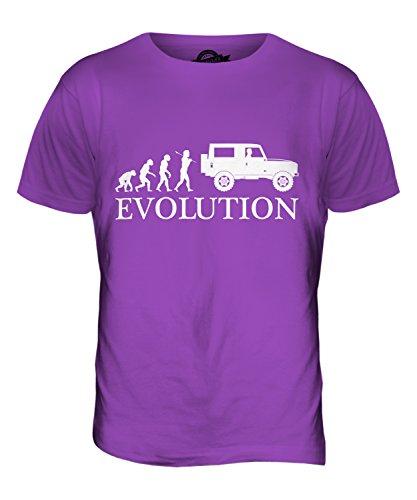 CandyMix 4X4 Evolution Des Menschen Herren T Shirt Violett