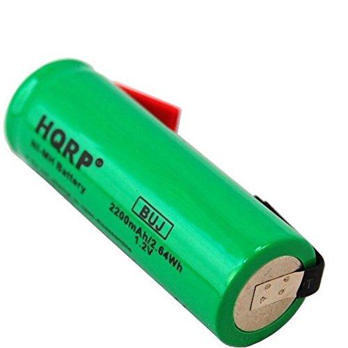 HQRP Batería 2200mAh NiMH 1.2V 48mm x 17mm para Braun Oral-B 3731 ProCare 1ef7a2b65c09