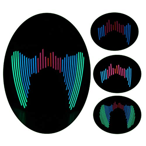 YOU LOOK UGLY TODAY LED Maske Musik Ton aktiviert Maske Party Kostüm Licht blinkt Gesichtsmaske für Disco, Raves, Partys, Halloween