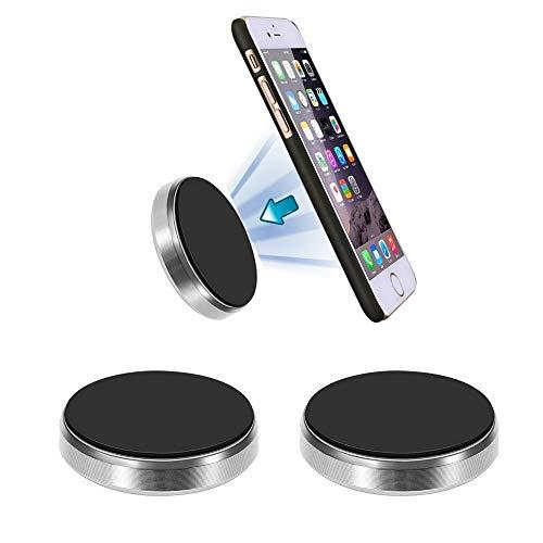 Korbus [Soporte Magnético Móvil Coche Universal (2 Pack) para Móviles, GPS,  iPhone, Samsung, Llaves  Pegar Imán en Salpicadero, Pared, Muebles