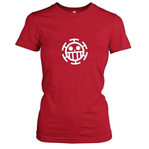 Kostüm Fun Unlimited - Texlab - Heart Piraten - Damen T-Shirt, Größe M, rot