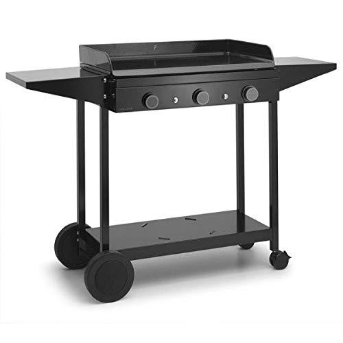 Forge Adour - choa75 - Chariot pour plancha Noir