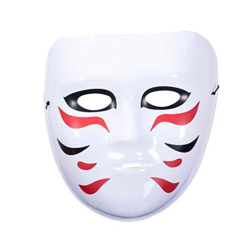 qiumeixia1 1 stück Halloween Maske Horrible Thrill Japanischen Stil Kunststoff Maske Bemalte Maske für Dance Show Festival (Disco Dance Show Kostüm)