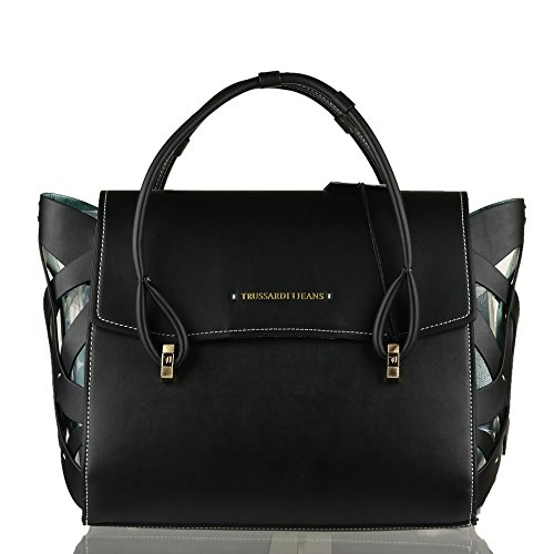 Borsa Donna 2 Manici   Trussardi Jeans Dahlia   75B0034399999-Black