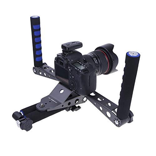 JIASHU Kit per Video Gabbie per videocamera, Staffa per stabilizzatore di Spalla per videocamera, Ammortizzazione Ammortizzante con Impugnatura, Pieghevole