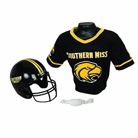 Franklin Sports NCAA Southern Mississippi Golden Eagles Helmet and Jersey Set