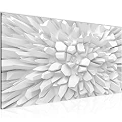Idea Regalo - Quadro 3D Fiore 100 x 40 cm - XXL Immagini Murale Stampa su Tela Decorazione da Parete Pronte per l'applicazione - 503912a