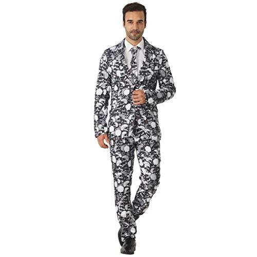 lett Anzug mit Jackett Hose Krawatte Kostüm Cosplay Faschingskostüme Halloween Party Karneval Fastnacht Kleid für Erwachsene ()