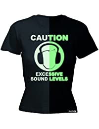 123t Women's - GLOW IN THE DARK SOUND-LEVEL - Ladies Fitted T-shirt
