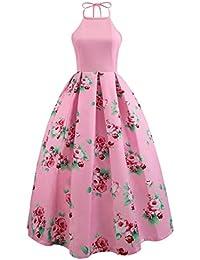 HOMEBABY Stampato Floreale Abiti Lunghi Donna Eleganti - Estivi Vestiti  Casual Donna - Vintage Maxi Abito 8bf7356e8ab