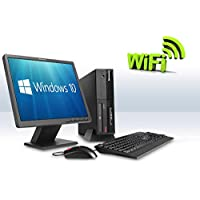 Complete Set of Gaming PC Lenovo ThinkCentre WiFi GeForce GT710 HDMI Windows 10 PC Computer (Certified Refurbished)