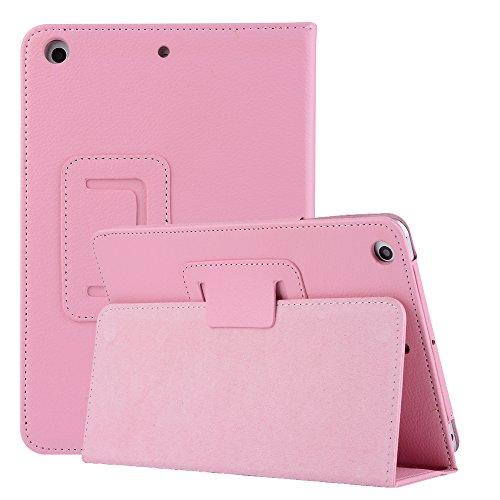iPad Schutzhülle Handhülle, Miya Schutz Spezieller PU-Material Einfacher bequemer Stil Stoßfestes wasserdichtes Tablet PC-Gehäuse Mit Standfunktion Hülle(IPAD PRO 9.7,Rosa)