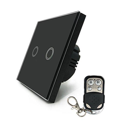 Morza Wand Touch-Schalter Fernbedienung Light Panel EU Wireless Sensor EIN/Aus 2 Gang RF433 240V Smart Controller