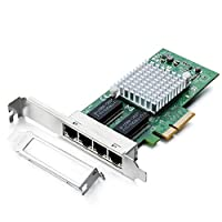 1Gbe Ethernet Network Adapter (NIC) for Intel 82580, Quad Copper RJ45 Ports, PCI Express 2.0 X4, Same as I340-T4/ E1G44HT