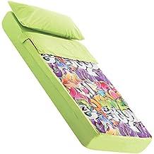 Saco nórdico para cama 90x190/200 cm GRAFFITI pistacho (sin relleno)