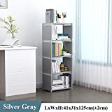 Deesjue Einfaches Bücherregal aus Multischicht, nichtgewebter Wandschrank Gray 5L A