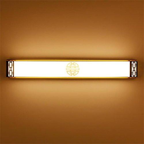 Ali@Lampes pour miroir Nouvelle lampe murale chinoise miroir conduit lampe a conduit salle de bains salle de bains Dressing table miroir phares Chambre simple lampe économiseuse d'énergie ( Couleur : Lumière chaude , taille : 83 cm )